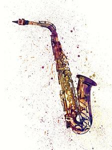 saxophone-abstract-watercolor-michael-tompsett